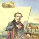 Taras Hryhorovych Shevchenko (1814 - 1861)   Portrait of the Artist-battle Alexander Yevstahiyovych Kotzebue  Watercolor on paper, 1843  27,9 &#215; 22,5 cm  State Shevchenko Museum, Kyiv, Ukraine